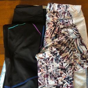 2 pair Fila Capri Pants Size XL